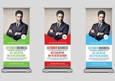 Conference Roll Up Banner Specification CMYK Color Mode 300 DPI Resolution Size Bleed in Each Side Features 3 Colors Free Fonts Editable Text Best Resume Template, Brochure Template, Bunting Design, Roll Up Design, Cool Business Cards, Resume Cv, Print Templates, Conference, Rolls