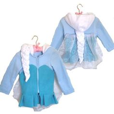 Frozen Elsa Jacket: the perfect combination of costume and day wear. Available from www.facebook.com/Cheekymonkeychildrensboutique