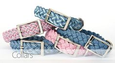 For the pampered pooch, braided collars from Kiss My Mutt.