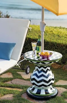 Playful Outdoor Furniture.Find some crap tables and chair and use them outside'