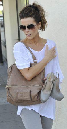 Kate Beckinsale et son Pandora beige rosé - taille M.