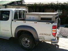 Κουτί μεταφοράς φορτωμένο σε  Mazda BT-50 pick up. Κόατος 400  € Mazda, Boxes, Van, Vehicles, Crates, Box, Car, Cases, Vans