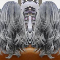 Happy Monday! New month, new hair ✨✨ Frost Grey Hair Color.