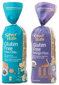 Silver Hills Bakery Gluten Free Organic Breads - Chia Chia and Omega Flax - Whole Grain and no Gums! Toast up first, but great for sandwiches. #dairyfree