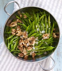 Haricots Vert Salad with Shallots and Candied Walnuts