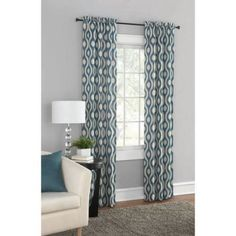 Mainstays Thermal Print Woven Curtain Panels, Set of 2, Multiple Colors - Walmart.com