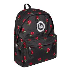 Hype Embroidered Rose Backpack (Black)  fashionbackpacksblack Backpack  Outfit 7a4c4ed2b31a4