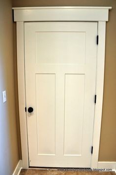 I like the trim and this interior door.  I would love to redo all of our interior doors like this!