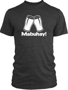Big Texas Tagalog Cheers (White) Vintage Tri-Blend T-Shirt