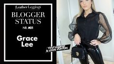 Grace Lee - Leather Leggings - Haul OOTD - HOW TO STYLE FAUX LEATHER LEG... Faux Leather Leggings, Leather Jacket, My Coffee, Leggings Fashion, Cool Style, Ootd, Legs, Youtube, Studded Leather Jacket