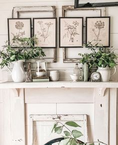 We just love the beauty and simplicity of Ashley's space! Who wouldn't love all of her vintage finds, soft whites, greens, and these beautiful botanical prints. She couldn't have styled this space any more perfectly. Ashley's home is just stunning! Be sure to check out her feed 💗⁠ .⁠ .⁠ 📷 @laineydrewblog⁠ .⁠ .⁠ .⁠ #farmhousedesign #farmhouseliving #farmhouseinspired #myvintageinterior #farmhousehappy #mybhg #homesofinstagram