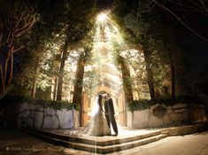 Night Wedding at Wayfarers Chapel