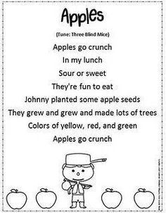 Shared reading poem for ee and ea