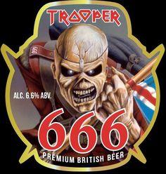 Iron Maiden : La Trooper 666 en vente à la SAQ - Musik Universe Bruce Dickinson, Albums Iron Maiden, Trooper Beer, Iron Maiden Mascot, Iron Maiden Posters, Eddie The Head, Iron Maiden Band, British Beer, Rock N Roll