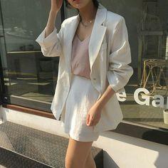Imagem de fashion, kfashion, and korean fashion Korean Fashion Summer, Korean Fashion Casual, Casual Outfits, Cute Outfits, Fashion Outfits, Womens Fashion, Fashion Lookbook, Minimal Fashion, Latest Fashion Trends