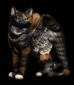 "Large Bird-Winged Flap Cat - ""Luna"" $465.00"