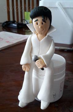 Elvis Figurine Cake Topper
