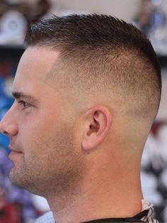 Buzz Cut Fade Styles for Men - Black Haircut Styles Fall Hair Cuts, Thin Hair Cuts, Thick Hair, Crew Cut Haircut, Fade Haircut, Haircut Men, Cool Short Hairstyles, Boy Hairstyles, Military Hairstyles