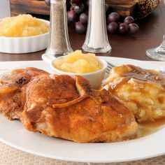 A Hearty Pork chop recipe, Served with potatoes and apple sauce this is a delicious meal.. Breaded Baked Pork Chops Recipe from Grandmothers Kitchen.