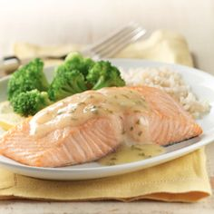 Baked Salmon with Lemon Sauce... Get your kids to love seafood with this simple tangy salmon dish with just 6 ingredients.
