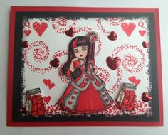 Visible Image stamps - Queen of Hearts - Sue Joseph Alice In Wonderland Crafts, Image Stamp, Queen Of Hearts, Old Things, Joseph, Stamps, Create, Gallery, Projects