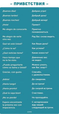 знакомство на испанском для начинающих