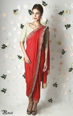 Designer Renee. A gorgeous #red #saree from $420 AUD available at www.waliajones.com/Renee #indiancouture #saree #anarkali #indianclothes #australia #worldwide #indianfashion #lehenga #drapedgown #gown #indianclothing #online #onlineindian #indians #indian #indiandesigner #waliajones #indianonline #love #fashion #affordableindianclothing #colours #india #desiwedding #indianbride #mehendi #mehndi #sweetheartlehenga #indianblouse