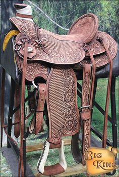 Big King Western Wade Ranch Roping Horse Saddle Tan