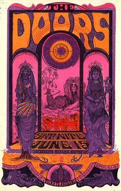 The Doors vintage rock poster