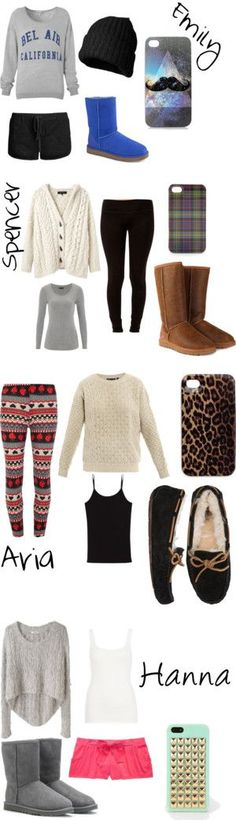 """Sleepover with the Pretty Little Liars"" by ninathemermaid ❤ liked on Polyvore"