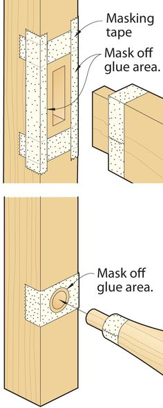 Keep glue smears from marring joints