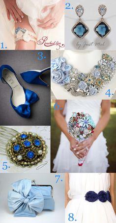 Something Blue Wedding Accessories