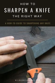 Looking for a how-to guide on sharpening any knife? We give you a step by step o… Looking for a how-to guide on sharpening any knife? We give you a step by step on how to keep your blade edge extra sharp. Survival Food, Outdoor Survival, Survival Knife, Survival Tips, Survival Skills, Emergency Preparedness, Urban Survival, Wilderness Survival, Camping Survival
