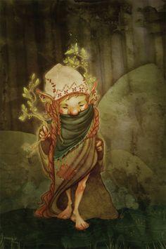 a fantastical troll by artist Emmy Wahlback