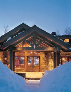 5 Welcoming Timber-Frame Entrances - Your timber home's entrance lays the groundwork for the rest of your home. These five examples show how to make it count. | Timber Home Living