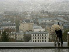 Paris outlook in the rain