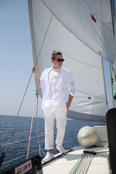 At the moment I'm 'Sailing The Kornati In All White'. It's actually not an outfit to sail, but in the evening for some fancy dinner it's right. :)