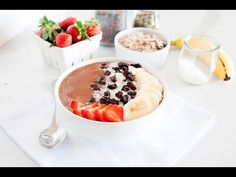 This chocolate smoothie bowl is high in fiber and protein, making it the perfect dessert, brunch treat or post-workout snack!