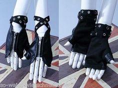 RQ-BL-Gothic-Handschuhe-Punk-Gloves-Steampunk-Kunst-Leder-Nieten-Rave-Studs-1014