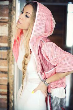 cute girl in a hoody