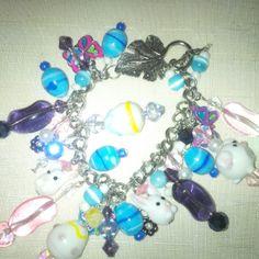 Easter Charm Blue by FarringtonBead on Etsy, $20.00