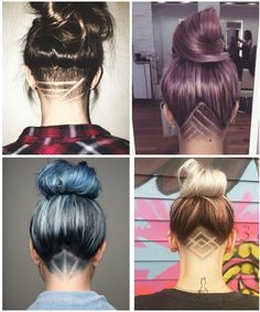 Faule Frisuren 3 Shaved Lines Your Wedding Budget: Setting And Sticking To It Want to make sure your Undercut Hairstyles Women, Undercut Long Hair, Cool Hairstyles, Undercut Pixie, Shaved Undercut, Pixie Haircuts, Pixie Hairstyles, Shaved Hairstyles, Men's Hairstyle