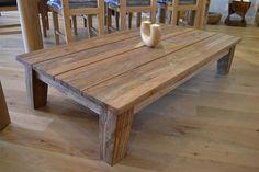 table from reclaimed beams | Reclaimed Teak Coffee Table - Greenface