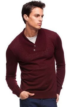 Ribbed Shawl Collar Sweater - New Arrivals - Mens - Armani Exchange
