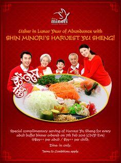 Usher the new Year with Shin Minori Havest Yu Sheng!  | Shin Minori Japanese Restaurant | Best Japanese Buffet In Singapore #yusheng