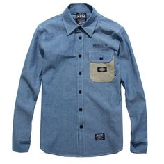 Denim Button Up, Button Up Shirts, Streetwear, Buttons, Street Style, Mens Fashion, Jeans, Blue, Color