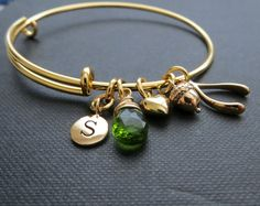 Custom charm bangle bracelet, choose your charm, charm bracelet,  custom jewelry, expandable