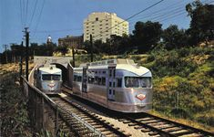 Modified PCCs that Leonard's Department Store (Texas) purchased from DC Transit in 1962.