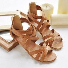 Crossing Strap Sandals