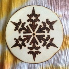 Wood burned ornament • Christmas • holidays • Winter decor by MShelsJewels on Etsy https://www.etsy.com/listing/462126088/wood-burned-ornament-christmas-holidays